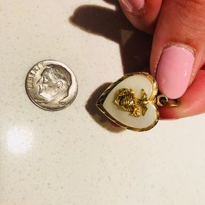 WW2 Marines Sweetheart Locket another of Pearl MOP